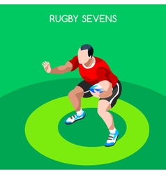 Rugby Sevens 2016 Summer Games 3D Isometric vector image vector image