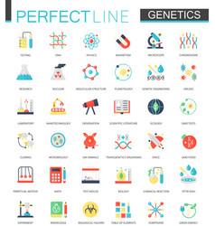 Set of flat biochemistry genetics icons vector