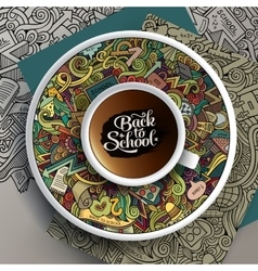 with a Cup of coffee and vector image