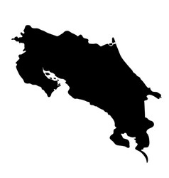 black silhouette country borders map of costa vector image