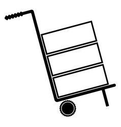 cart delivery or shipment the black color icon vector image