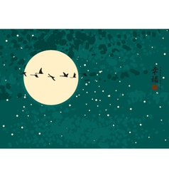 china night vector image