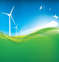 eco turbine background vector image vector image