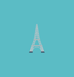 flat icon eiffel element of vector image vector image