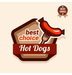hot dogs logo vector image vector image