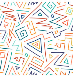 colorful children hand drawn seamless pattern vector image