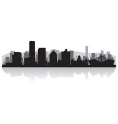 Durban city skyline silhouette vector image vector image
