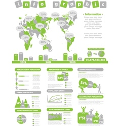 INFOGRAPHIC DEMOGRAPHICS TOY GREEN vector image