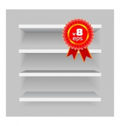 shelves on gray background vector image vector image