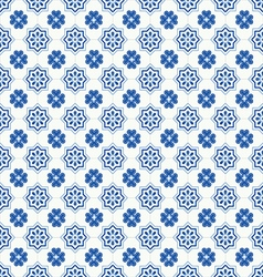 Traditional ornate portuguese tiles azulejos vector image vector image