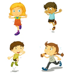 a four kids vector image vector image