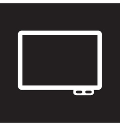 Flat icon in black and white style interactive vector