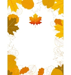Isolated Autumn Leaves card with maple plus EPS10 vector image vector image