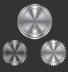 Metal Badges vector image vector image