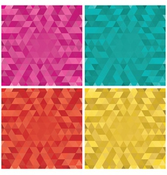 Set of colorful Abstract triangle backgrounds vector image vector image