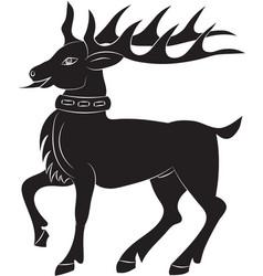 silhouette of deer vector image