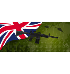 uk united kingdom england britain military power vector image vector image