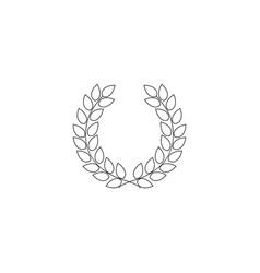 wreath reward on white background vector image