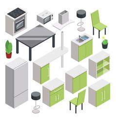 3d room design isometric furniture set vector