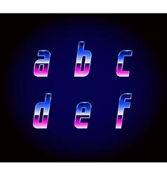 80s Retro Futurism Sci-Fi Font Alphabet vector image