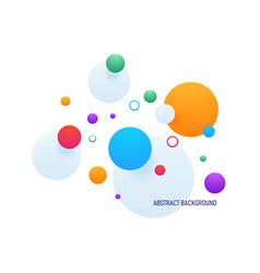 abstract colorful gradient geometric shape vector image