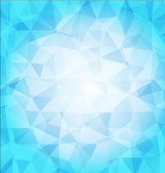 Abstract poligon background in blue tones vector