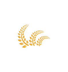 Agriculture rice food meal logo and symbols vector