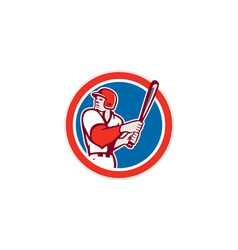 American baseball player batter hitter circle vector
