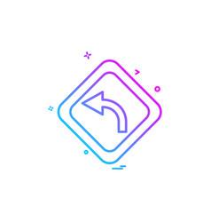 Arrow left centre icon design vector