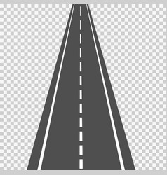 Asphalt road in scale in perspective isolated on vector