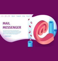 Banner digital mail messenger landing page vector