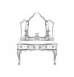 Baroque Royal luxury style furniture vector