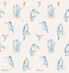 Beautiful tropical seamless pattern with different vector