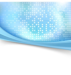 Blue bright dotted folder background vector image