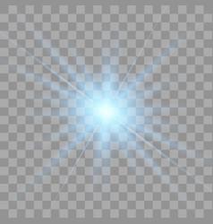 blue glowing light burst explosion vector image