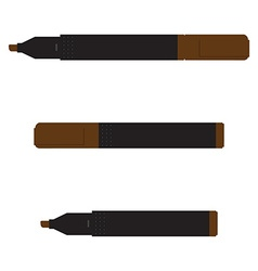 Brown marker set vector image