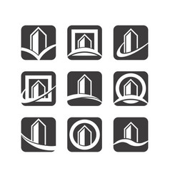 building logo icons vector image