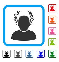 Caesar framed icon vector