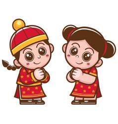 Chinese kids vector