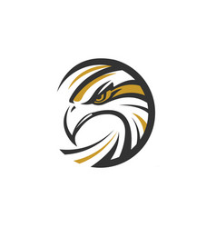 circle eagle sea hawk logo symbol vector image