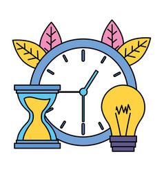 clock time work vector image