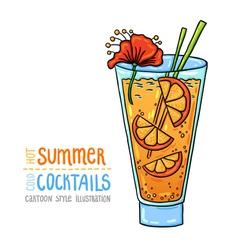 Cocktails one cartoon 1 vector