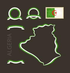 colors algeria vector image