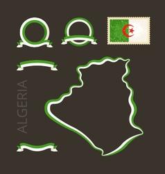 Colors of algeria vector