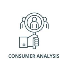 consumer analysis line icon consumer vector image