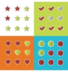 Consumer rating and satisfaction clients feedback vector image