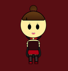 cute vampire girl cartoon vector image