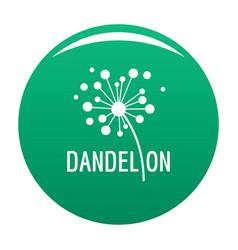 Dried dandelion logo icon green vector