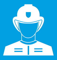 firefighter icon white vector image
