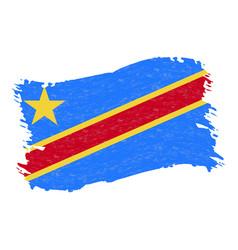 flag of democratic republic of the congo grunge vector image